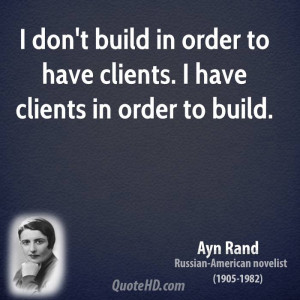 Ayn Rand Architecture Quotes