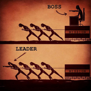 graphic depicts the difference between a Bad Boss and a Good Leader ...