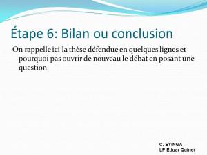 ... de nouveau le débat en posant une question. C. EYINGA LP Edgar Quinet