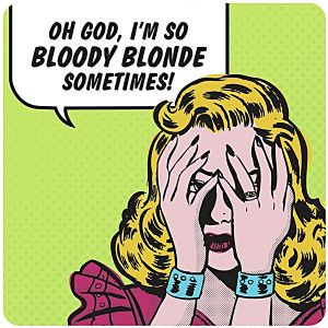 So Bloody Blonde (new version) funny drinks mat / coaster (hb)