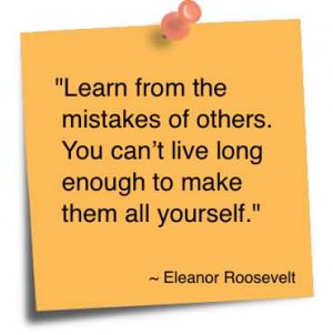 Learn From Mistakes Others