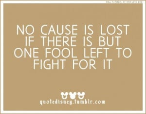 No cause is ever lost....
