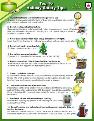 Top Ten Holiday Safety Tips