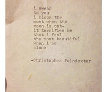 alone, beautiful, moon, poetry, text, christopher poindexter