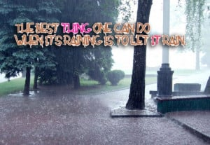 The Best Rain Quote Wallpaper