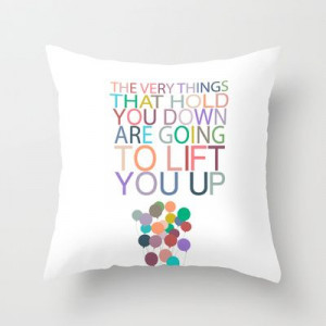 lift you up.. dumbo inspirational quote Throw Pillow by ...