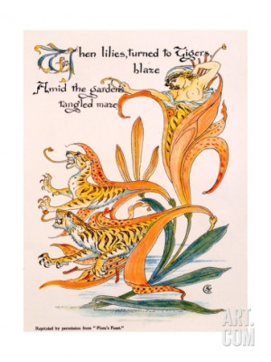 walter-crane-tiger-lilies-illustration-from-flora-s-feast-by-walter ...