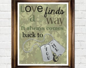 Army Wife Military Deployment Gift, Love Will Find A Way Quote ...
