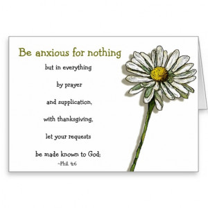 BIBLE VERSE, ANXIETY, COMFORT: Daisy, Flower Greeting Card