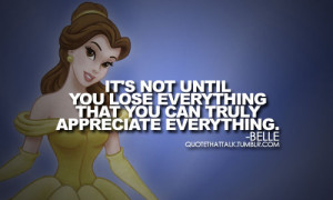 Disney Princess Belle quote. :)