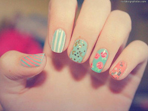 Vintage nails - Nail Designs Picture