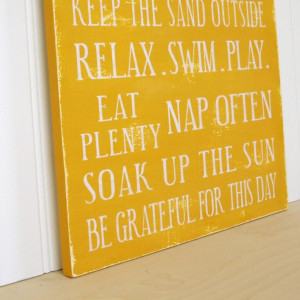 Family Rules Sign Lake House, Beach House or Cottage Rules in Mustard ...