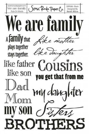 Family Quotes And Sayings...