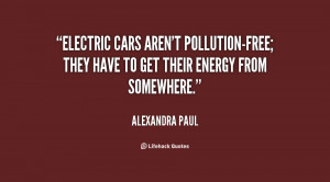 Electric cars aren't pollution-free; they have to get their energy ...