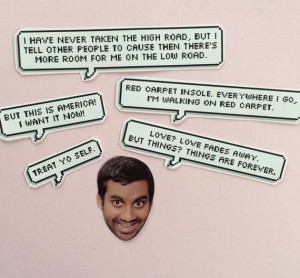 Tom Haverford quotes stickers
