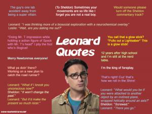 The Big Bang Theory Leonard Quotes