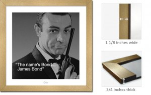 Details about Gold Framed James Bond 007 Art Print Quote Sean Connery
