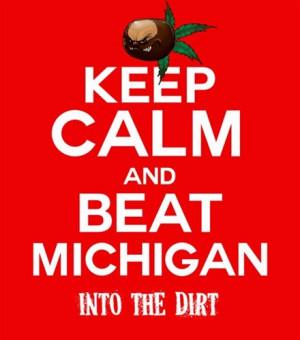 Keep Calm and Beat Michigan Ohio State