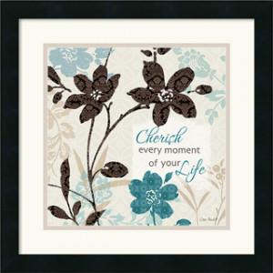 Lisa Audit 'Botanical Touch Quote I' Framed Art Print