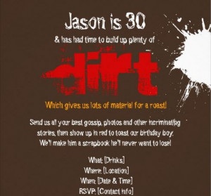 This Dirty Thirty Birthday Party Invitation Perfect For Men Wallpaper ...