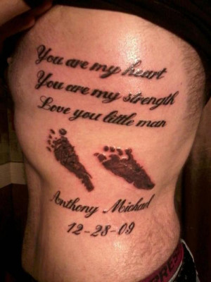 son tattoo quotes father quote foot prints