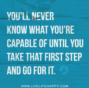 Taking the first step