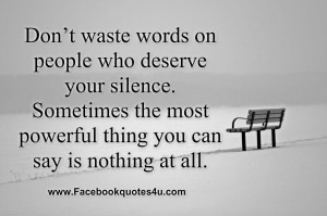 Quotes About Spiteful People | Mean People Quotes Don't waste words ...