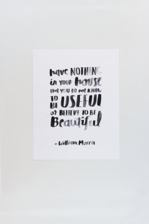 William Morris Quote Print by APairOfPears on Etsy