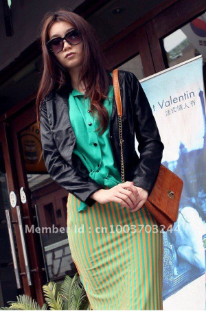 2011 new fashion women lady coat short coat jacket leather jacket