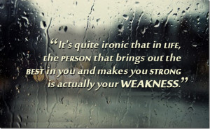 It's Quite Ironic That In Life…