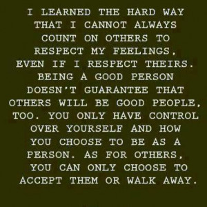 Friday Quotes: Accept Them or Walk Away