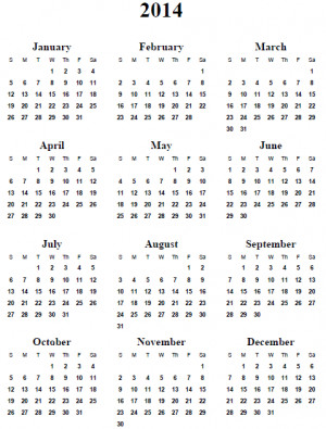 ... template whole sheet printable calendar printable calendar yearly 2014