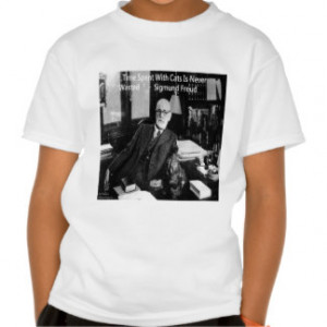 Sigmund Freud In His Office & Funny Cat Quote Tee Shirt