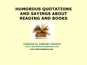 Humorous quotations and sayings about reading and books