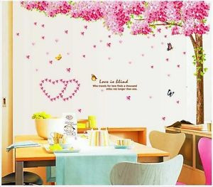 ... -Removable-Mural-Quote-Decal-Sticker-Large-Cherry-Blossom-Tree-NEW