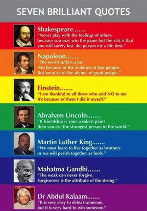 Seven brilliant quotes of famous people
