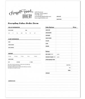 sample of food order form.