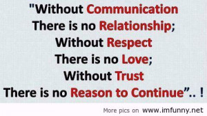 ... Without Respect There Is No Love Without Trust - Inspirational Quote