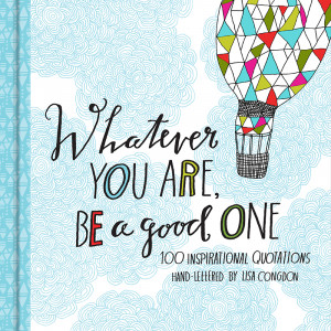 ... good one my book of hand lettered quotations chronicle books 2014