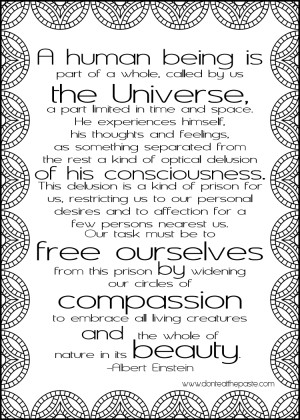 Circles of Compassion- printable Einstein quote