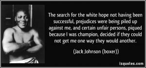 Jack Johnson (boxer) Quote
