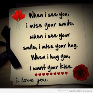 Love Quotes For Him Smile : hug and kiss quotes love hug image love and hug quotes hug and kiss ...