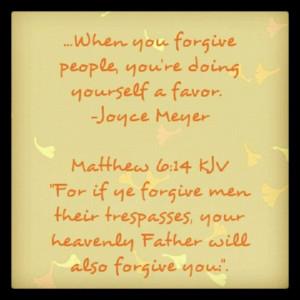 Forgiveness to move on...