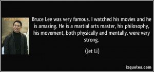 Bruce Lee was very famous. I watched his movies and he is amazing. He ...