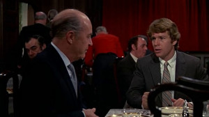 Ray Milland and Ryan O'Neal in