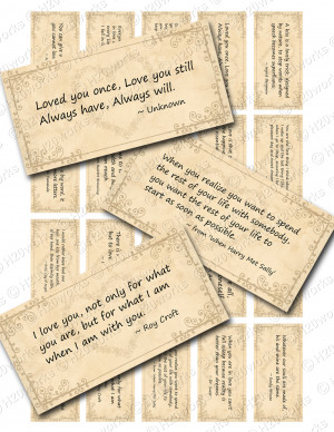 neutral sayings Love Quotes Digital Collage Sheets