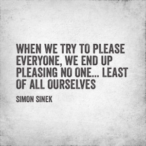 Simon Sinek on trying to please people