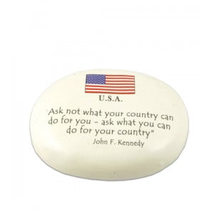 John F. Kennedy Ask Not Quote Paperweight