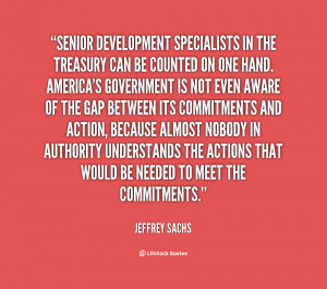 Senior development specialists in the Treasury can be counted on one ...