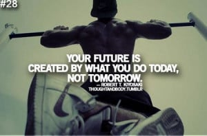 Motivational Quote: Your Future Is Created By What You Do Today